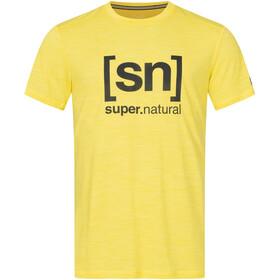 super.natural Logo T-shirt Herrer, aurora melange/jet black logo